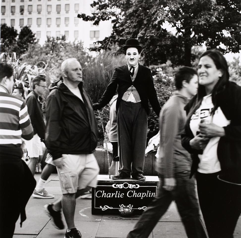 Charlie Chaplin on the South Bank