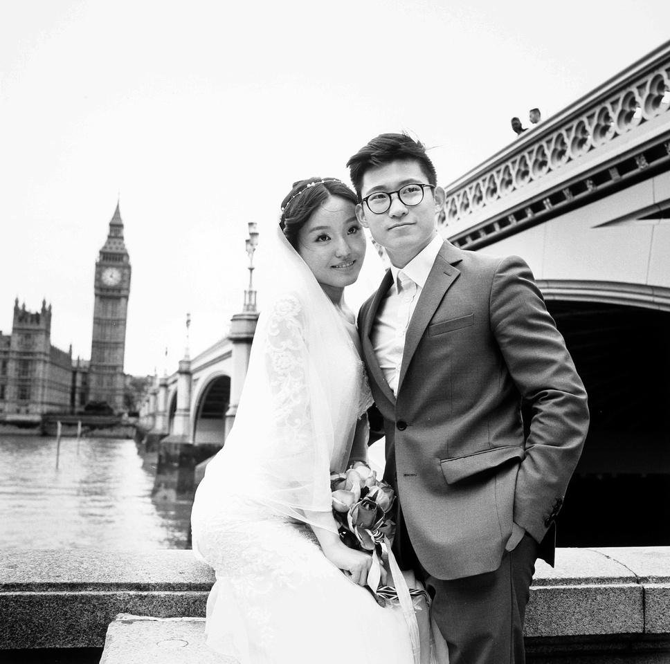 Joanne and Tei Xue, newlyweds