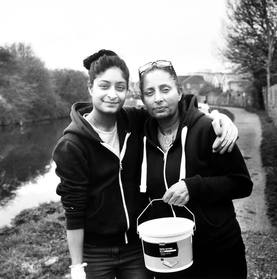 Senem and Nina, towpath repairers